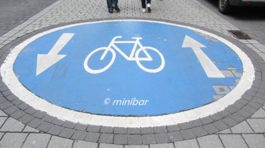 Fahrrad-Spur 7658